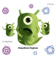 Cute cartoon atopobium bacteria vector image