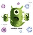 Cute cartoon atopobium bacteria vector image vector image