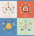 digital line icons set blockchain pack vector image vector image