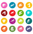 electric tools icons set colorful circles vector image