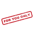 For You Only Text Rubber Stamp vector image vector image