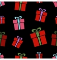 Gift box seamless pattern vector image vector image