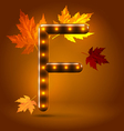 Glossy retro autumn lighted up abc