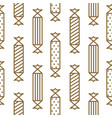 gold and white party crackers seamless vector image vector image