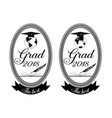 graduation emblem badge set vector image