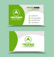 green white background business card vector image vector image