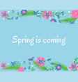 hand-drawn spring botanical background vector image vector image