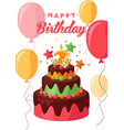 happy birthday greeting card colorful vector image