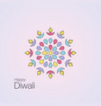 happy diwali text design vector image vector image