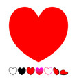 heart flat icon for web or mobile apps isolated vector image vector image