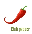 Hot red chili or cayenne pepper icon vector image vector image