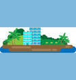hotel on the island vector image vector image