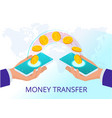 isometric technology online banking money transfer vector image vector image