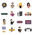 Karaoke Flat Icons Set vector image
