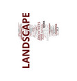 landscape architect plp text background word vector image vector image