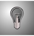 lightbulb cut paper vector image vector image