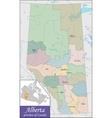 Map of Alberta vector image