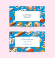 marine logistics company business card set vector image