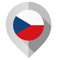 marker with flag for map vector image vector image