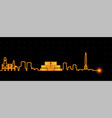 minsk light streak skyline vector image