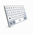 modern keyboard of smartphone alphabet vector image