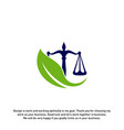 nature law firm logo design template green scales vector image
