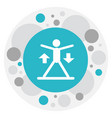 of sport symbol on exercise vector image