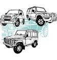 off-road cars - set