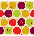 pattern from apple vector image vector image