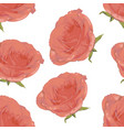 romantic floral pattern on a white background vector image vector image