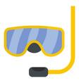 scuba mask icon flat style vector image