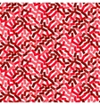 seamless red pattern in hipster style vector image