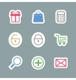 Shopping Icons as Labes vector image vector image