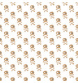skulls and bones seamless pattern cute doodles vector image vector image