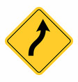 smooth curve road sign vector image vector image