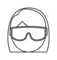 snorkel equipment icon vector image vector image