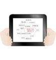 Social media and network concept on tablet pc vector image