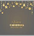 sparkling christmas glitter ornaments golden vector image vector image