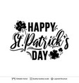 st patrick day greeting text composition vector image