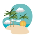 summer vacations time isolated icon vector image