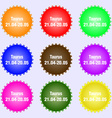 Taurus icon sign Big set of colorful diverse vector image