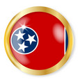 tennessee flag button vector image vector image