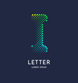 the letter i latin alphabet display vector image vector image