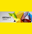 triangles background techno template vector image