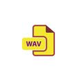 WAV Icon vector image vector image