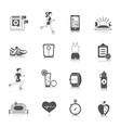 Jogging Icons Black vector image