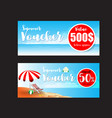 016 collection of summer sale promotion voucher vector image