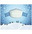 Fabulous Christmas winter card in cartoon-style vector image