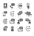 Contact Us Service Icons vector image
