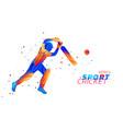 abstract batsman playing vector image vector image